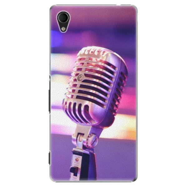iSaprio Plastový kryt - Vintage Microphone pro Sony Xperia M4 Aqua