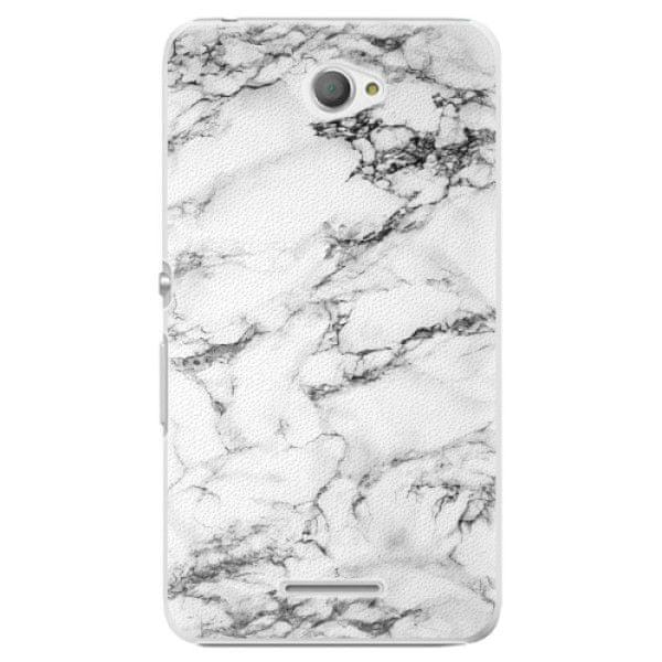iSaprio Plastový kryt - White Marble 01 pro Sony Xperia E4