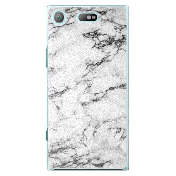 iSaprio Plastový kryt - White Marble 01 pro Sony Xperia XZ1 Compact