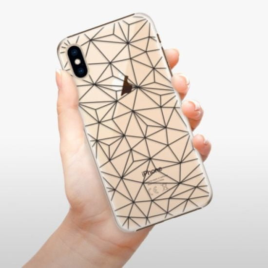 iSaprio Plastikowa obudowa - Abstract Triangles 03 - black na iPhone XS