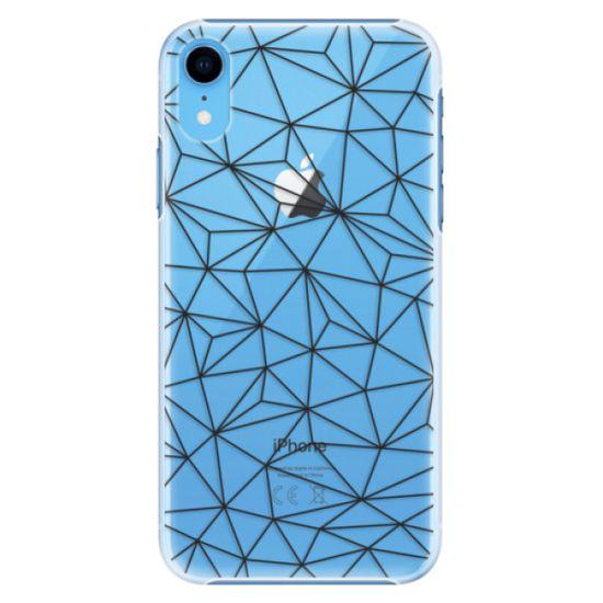 iSaprio Plastikowa obudowa - Abstract Triangles 03 - black na iPhone XR