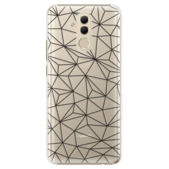 iSaprio Plastikowa obudowa - Abstract Triangles 03 - black na Huawei Mate 20 Lite
