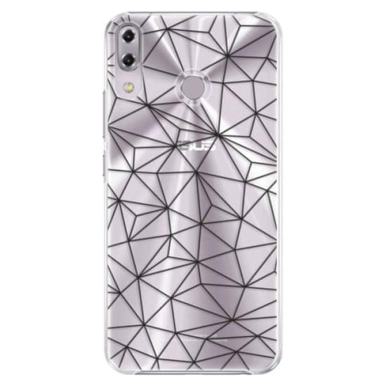 iSaprio Plastikowa obudowa - Abstract Triangles 03 - black na Asus ZenFone 5Z ZS620KL