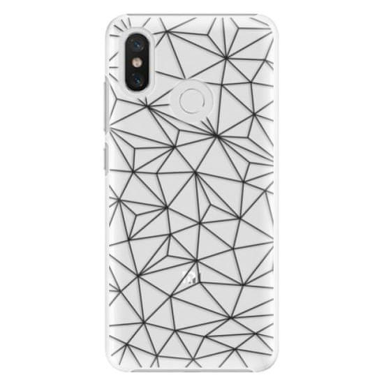 iSaprio Plastikowa obudowa - Abstract Triangles 03 - black na Xiaomi Mi 8