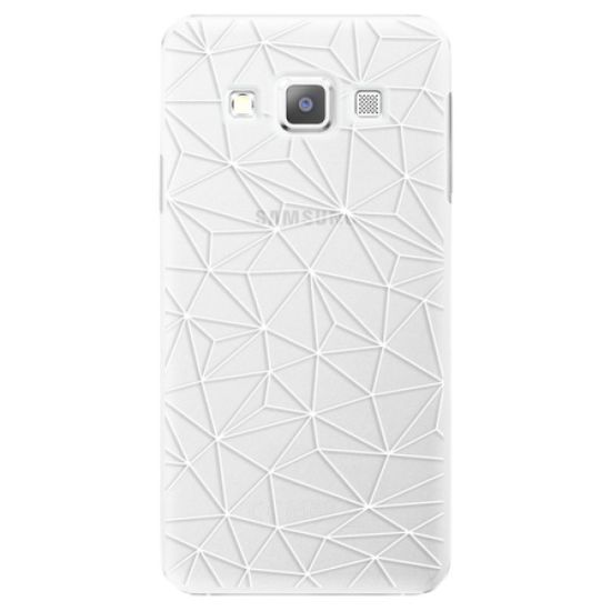 iSaprio Abstract Triangles 03 - white műanyag tok Samsung Galaxy A7