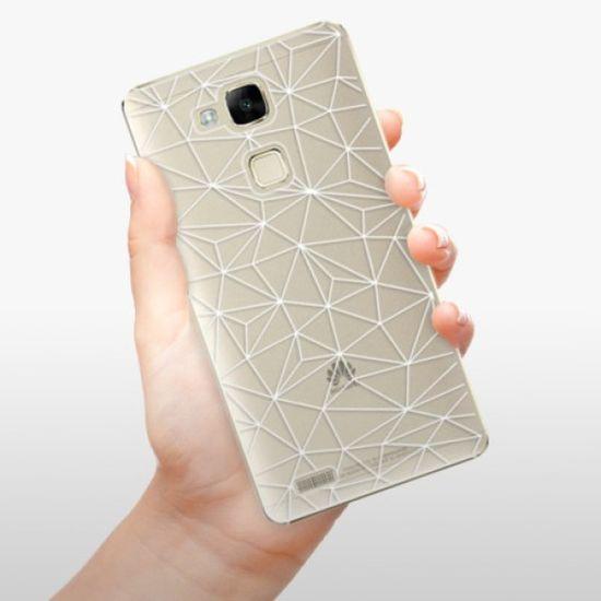 iSaprio Plastikowa obudowa - Abstract Triangles 03 - white na Huawei Ascend Mate 7