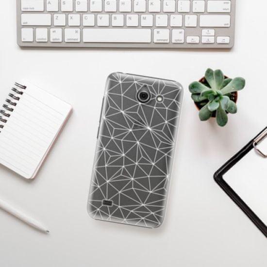 iSaprio Plastikowa obudowa - Abstract Triangles 03 - white na Huawei Y550