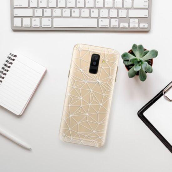 iSaprio Plastikowa obudowa - Abstract Triangles 03 - white na Samsung Galaxy A6+