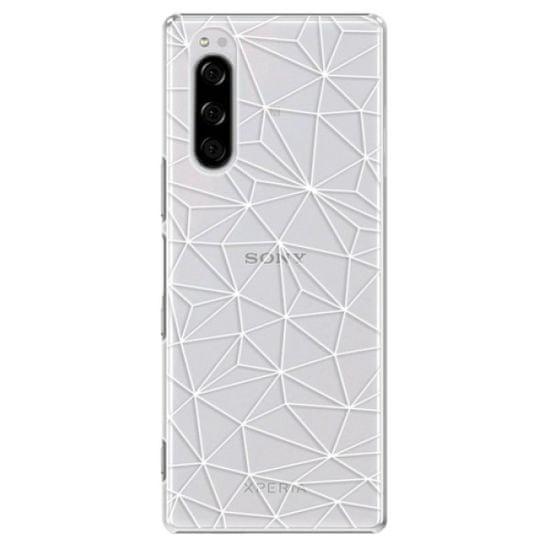 iSaprio Plastikowa obudowa - Abstract Triangles 03 - white na Sony Xperia 5