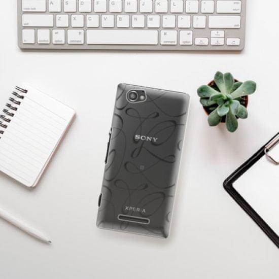 iSaprio Plastikowa obudowa - Fancy - black na Sony Xperia M