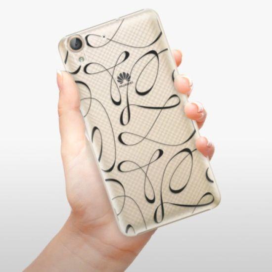 iSaprio Plastikowa obudowa - Fancy - black na Huawei Y6 II
