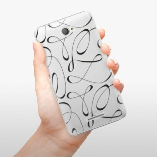iSaprio Plastikowa obudowa - Fancy - black na Sony Xperia E4