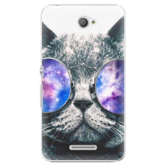 iSaprio Galaxy Cat műanyag tok Sony Xperia E4