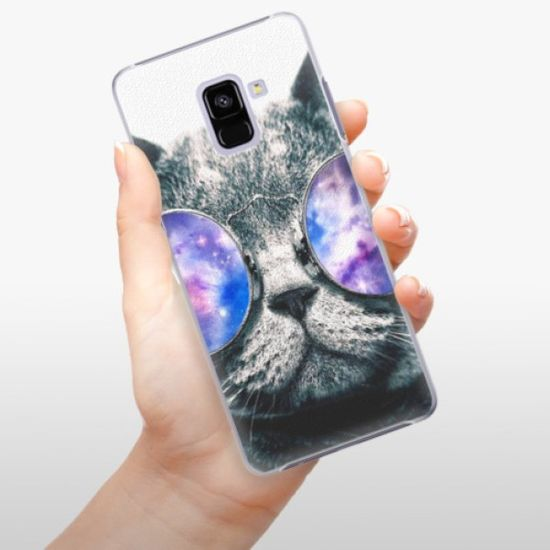iSaprio Galaxy Cat műanyag tok Samsung Galaxy A8+