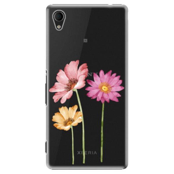 iSaprio Plastový kryt - Three Flowers pro Sony Xperia M4 Aqua