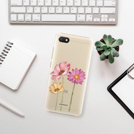 iSaprio Plastikowa obudowa - Three Flowers na Xiaomi Redmi 6A