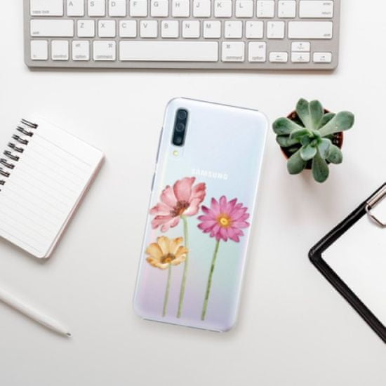 iSaprio Plastikowa obudowa - Three Flowers na Samsung Galaxy A50