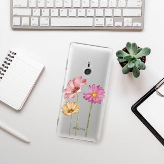 iSaprio Plastikowa obudowa - Three Flowers na Sony Xperia XZ3