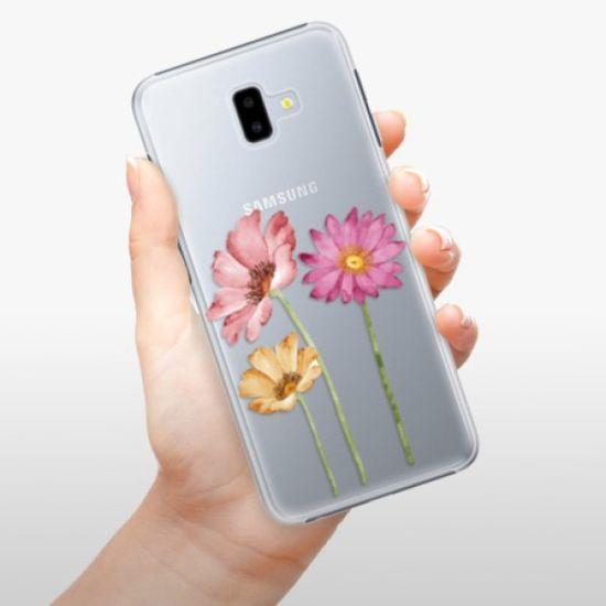 iSaprio Plastikowa obudowa - Three Flowers na Samsung Galaxy J6+
