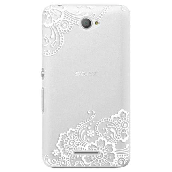 iSaprio Plastový kryt - White Lace 02 pro Sony Xperia E4
