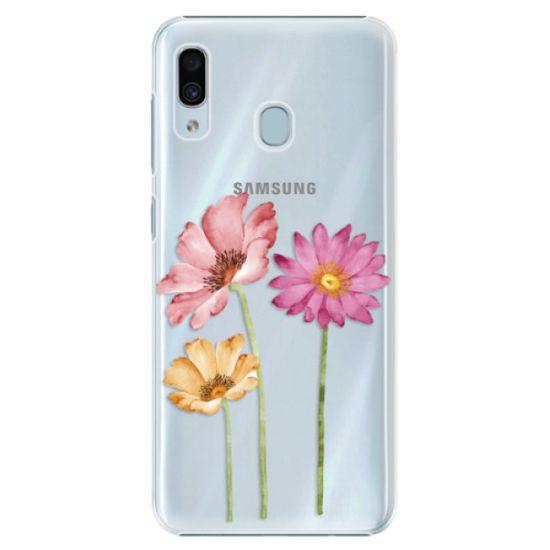 iSaprio Plastikowa obudowa - Three Flowers na Samsung Galaxy A30