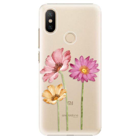 iSaprio Three Flowers műanyag tok Xiaomi Mi A2