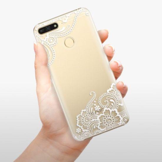 iSaprio Plastikowa obudowa - White Lace 02 na Huawei Honor 7A