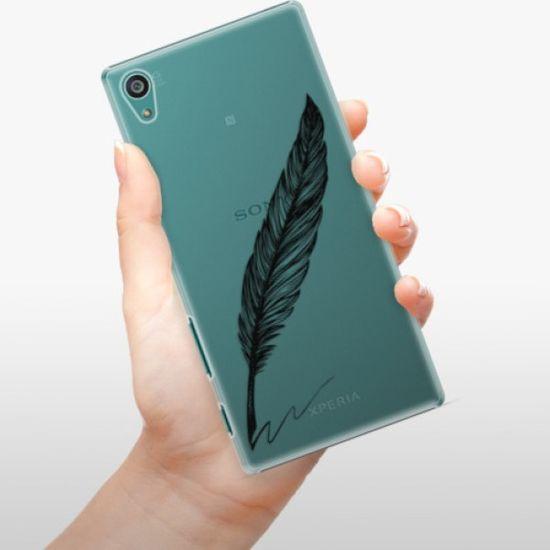 iSaprio Plastikowa obudowa - Writing By Feather - black na Sony Xperia Z5