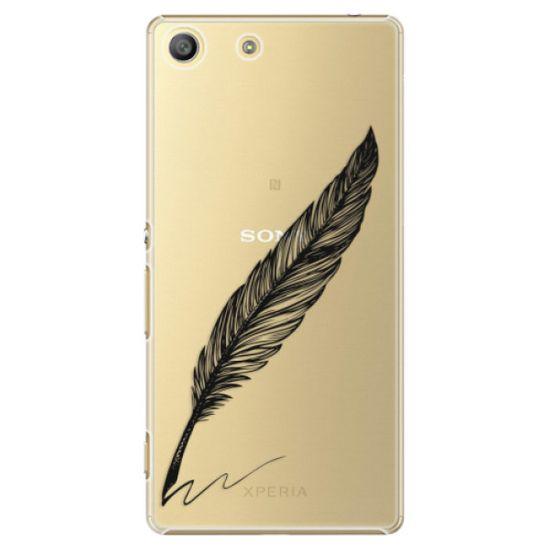 iSaprio Plastikowa obudowa - Writing By Feather - black na Sony Xperia M5