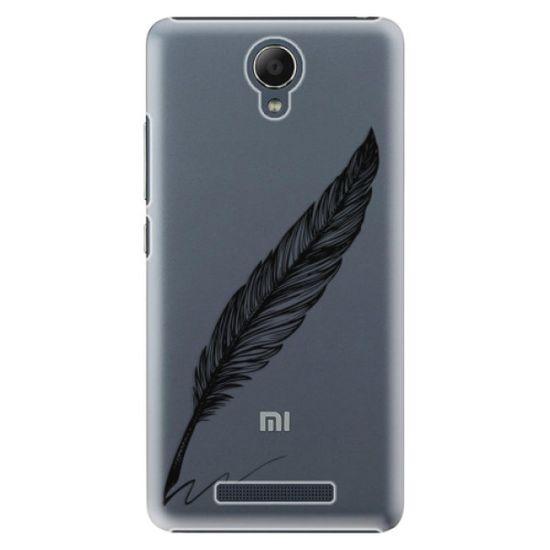 iSaprio Plastikowa obudowa - Writing By Feather - black na Xiaomi Redmi Note 2