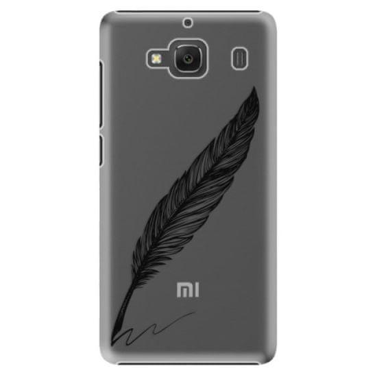 iSaprio Plastikowa obudowa - Writing By Feather - black na Xiaomi Redmi 2