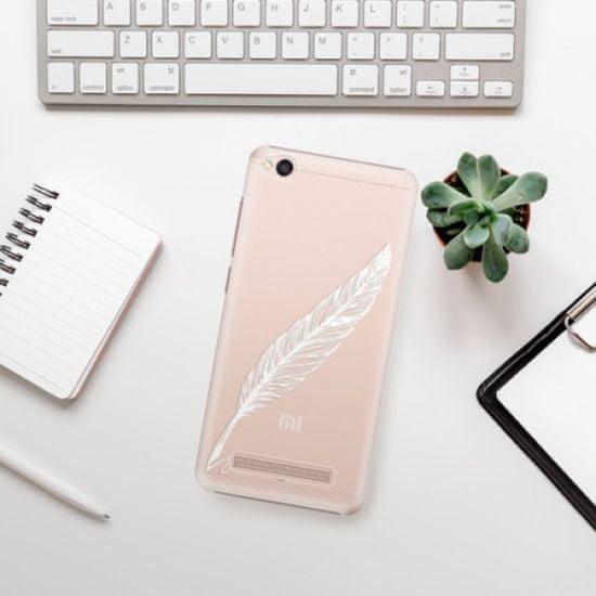 iSaprio Plastikowa obudowa - Writing By Feather - white na Xiaomi Redmi 4A