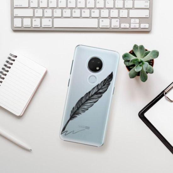 iSaprio Plastikowa obudowa - Writing By Feather - black na Nokia 6.2