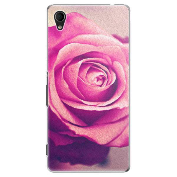 iSaprio Plastový kryt - Pink Rose pro Sony Xperia M4 Aqua