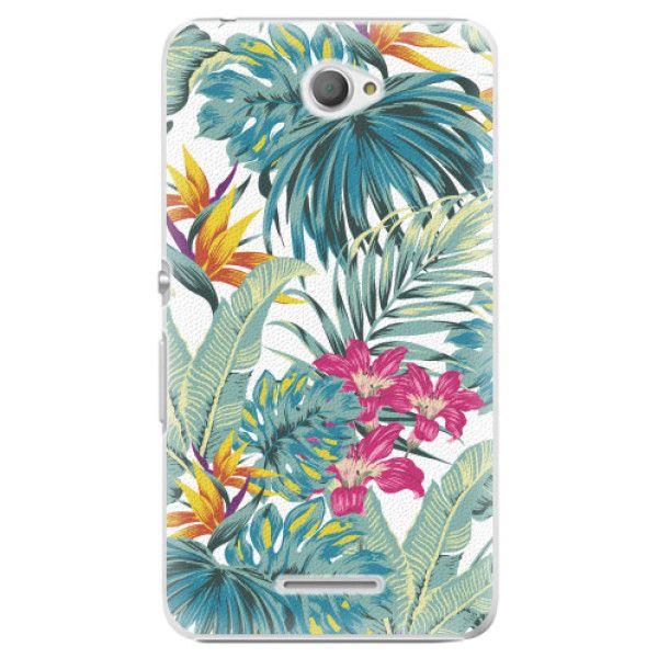 iSaprio Plastový kryt - Tropical White 03 pro Sony Xperia E4