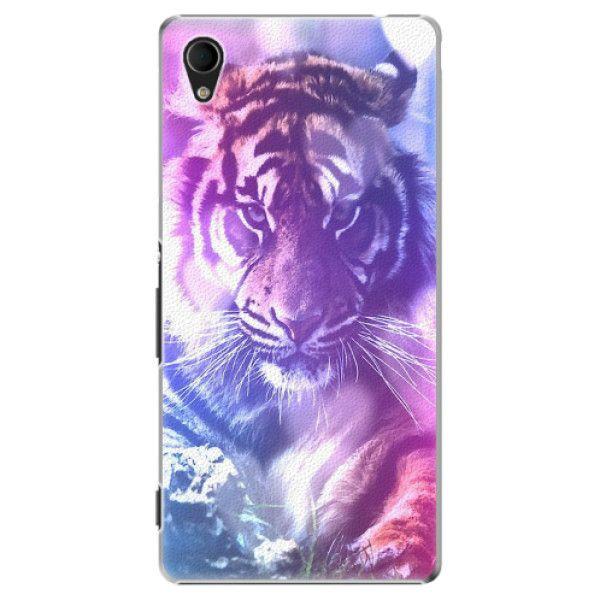 iSaprio Plastový kryt - Purple Tiger pro Sony Xperia M4 Aqua