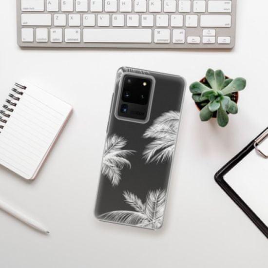 iSaprio Plastikowa obudowa - White Palm na Samsung Galaxy S20 Ultra