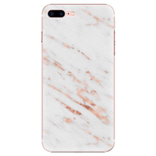 iSaprio Plastový kryt - Rose Gold Marble pro Apple iPhone 7 Plus / 8 Plus