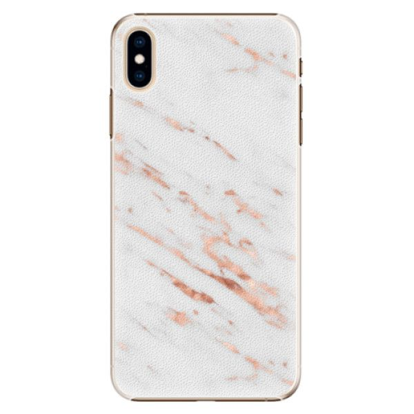 iSaprio Plastový kryt - Rose Gold Marble pro Apple iPhone Xs Max