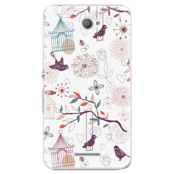 iSaprio Plastový kryt - Birds pro Sony Xperia E4