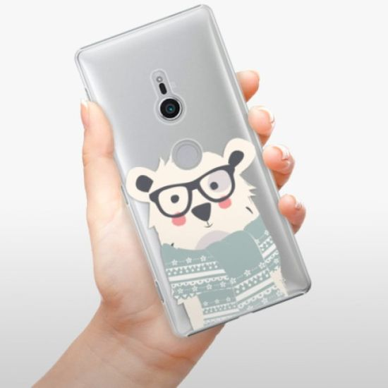 iSaprio Plastikowa obudowa - Bear with Scarf na Sony Xperia XZ2