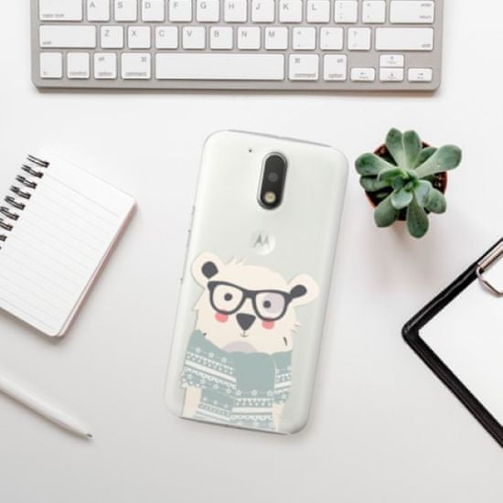 iSaprio Plastikowa obudowa - Bear with Scarf na Lenovo Moto G4 / G4 Plus