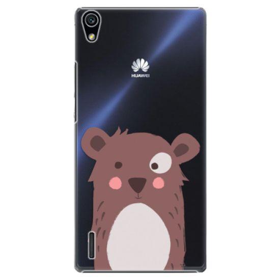 iSaprio Plastikowa obudowa - Brown Bear na Huawei Ascend P7