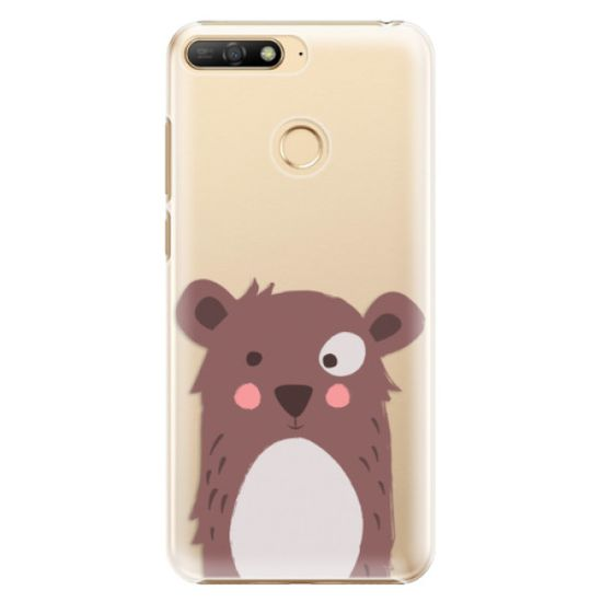 iSaprio Plastikowa obudowa - Brown Bear na Huawei Y6 Prime 2018