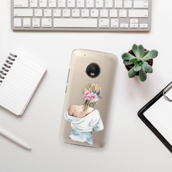 iSaprio Girl with flowers műanyag tok Lenovo Moto G5 Plus