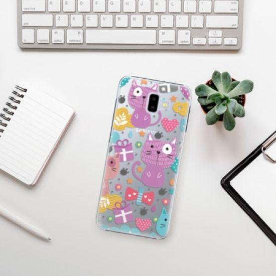 iSaprio Cat pattern 01 műanyag tok Samsung Galaxy J6+