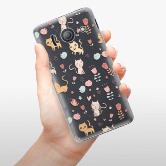 iSaprio Plastikowa obudowa - Cat pattern 02 na Huawei Ascend Y300