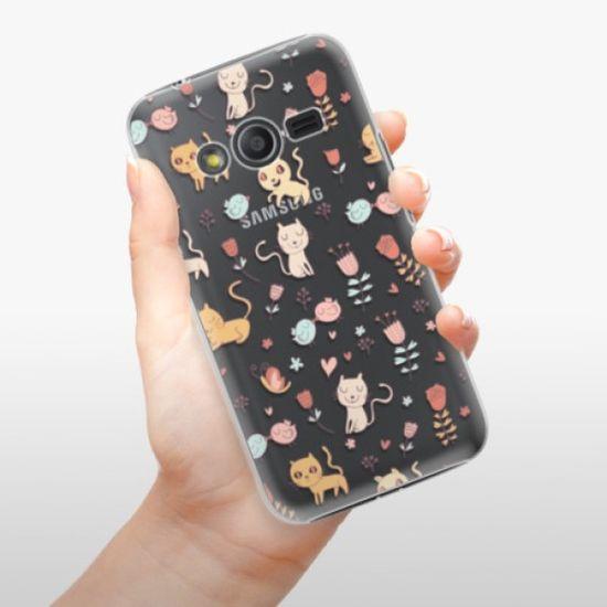 iSaprio Plastikowa obudowa - Cat pattern 02 na Samsung Galaxy Trend 2 Lite