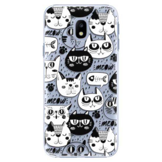 iSaprio Cat pattern 03 műanyag tok Samsung Galaxy J3 2017