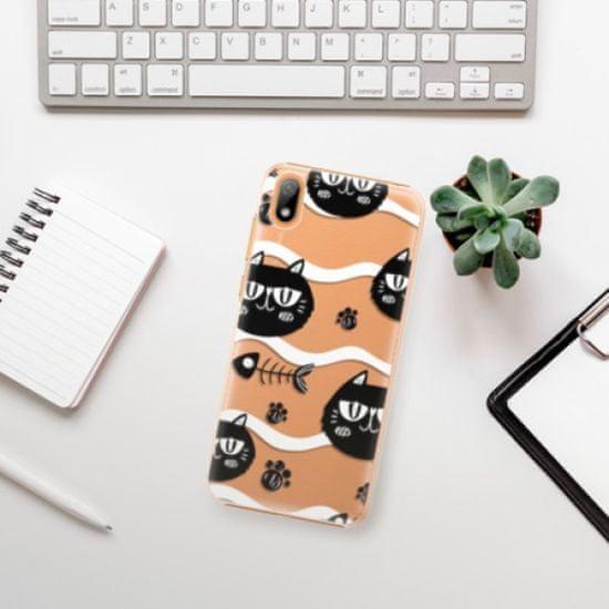 iSaprio Cat pattern 04 műanyag tok Huawei Y5 2019